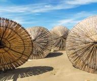 Parasoli di legno Fotografia Stock Libera da Diritti