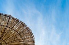 Parasoli di legno Fotografie Stock