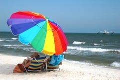 parasolka na plaży Obraz Royalty Free