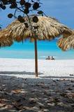 parasolka na plaży Fotografia Stock