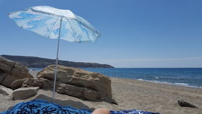 parasolka na plaży Zdjęcia Stock