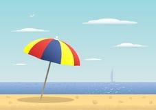 parasoll royaltyfri illustrationer