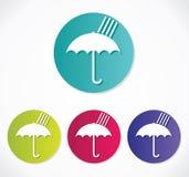 Parasolowa ikona Obrazy Stock