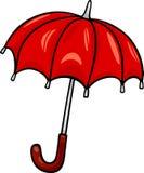 Parasolowa klamerki sztuki kreskówki ilustracja royalty ilustracja