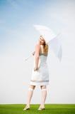 parasolowa kobieta zdjęcia stock