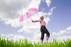 parasolowa kobieta obraz stock