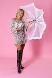 parasolowa kobieta zdjęcia royalty free