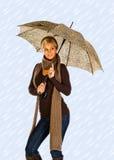 parasolowa kobieta fotografia royalty free