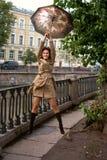 parasolowa kobieta zdjęcie stock