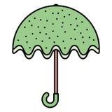Parasolowa mody akcesorium ikona ilustracji