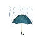 Parasolowa ochrona deszcz royalty ilustracja
