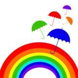 Parasolowa podeszczowej ochrony ikony rękojeść ilustracji