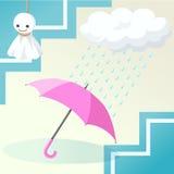 parasolowa pora deszczowa royalty ilustracja