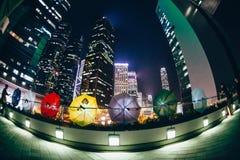 Parasolowa rewolucja w Hong Kong 2014 Obraz Stock