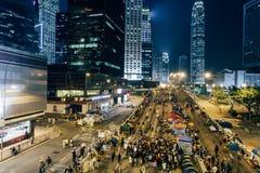 Parasolowa rewolucja w Hong Kong 2014 Zdjęcia Royalty Free