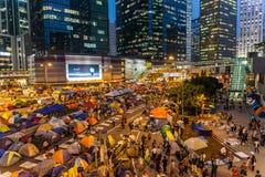 Parasolowa rewolucja w Hong Kong 2014 Obraz Royalty Free