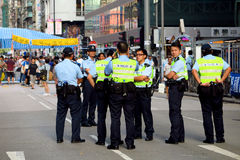 Parasolowa rewolucja w Mong Kok Zdjęcia Royalty Free