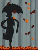 parasolowe kobiety Obrazy Royalty Free