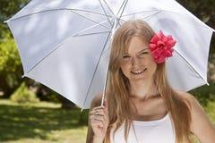 parasolowy biel Zdjęcia Royalty Free