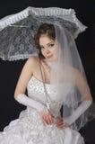 parasolowy panna młoda biel Obrazy Royalty Free