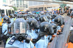 Parasolowy ruch w Hong Kong Obraz Stock