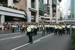 Parasolowy ruch w Hong Kong Fotografia Stock