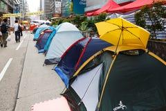 Parasolowy ruch w Hong Kong Obraz Royalty Free