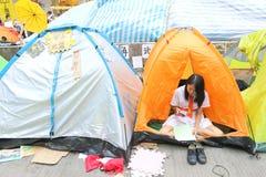 Parasolowy ruch w Hong Kong Fotografia Royalty Free
