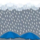 Parasolowy ulewny deszcz kropli chmury wektor Zdjęcie Royalty Free