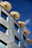 parasols στέγη στοκ εικόνα με δικαίωμα ελεύθερης χρήσης