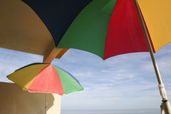 Parasols on a balcony Royalty Free Stock Images