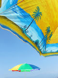 Parasols on beach Royalty Free Stock Photos