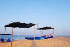 Parasols and Boats Stock Photography