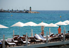 Parasols in Cannes royalty free stock images