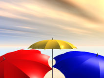 Parasols Royalty Free Stock Photography