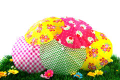 Parasols in the grass Stock Photography