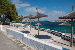 Parasols in Illetas Majorca Stock Photos