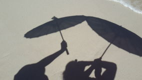 Parasolschaduwen Royalty-vrije Stock Foto