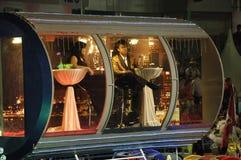 Parata 2010 di Chingay: Galleggiante dell'aletta di filatoio di Singapore Fotografie Stock Libere da Diritti