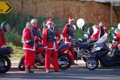 Parata 2011 della bici del Babbo Natale Fotografie Stock