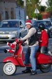 Parata 2011 della bici del Babbo Natale Immagini Stock