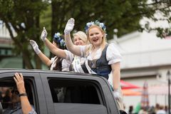 Parata bavarese di festival fotografie stock