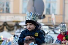 Parata biblica dei saggi del Re Magi tre Fotografia Stock Libera da Diritti