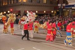 Parata cinese del nuovo anno in Chinatown Fotografia Stock