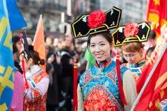 Parata cinese del nuovo anno a Parigi Fotografie Stock Libere da Diritti