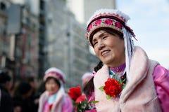 Parata cinese del nuovo anno a Parigi Immagine Stock Libera da Diritti