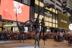 Parata cinese di notte del nuovo anno Immagine Stock Libera da Diritti