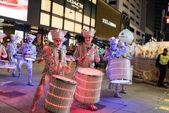 Parata cinese di notte del nuovo anno Fotografia Stock Libera da Diritti