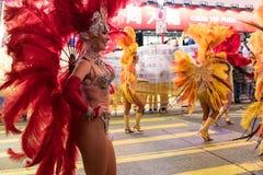 Parata cinese di notte del nuovo anno Immagini Stock