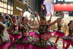 Parata cinese di notte del nuovo anno Immagine Stock